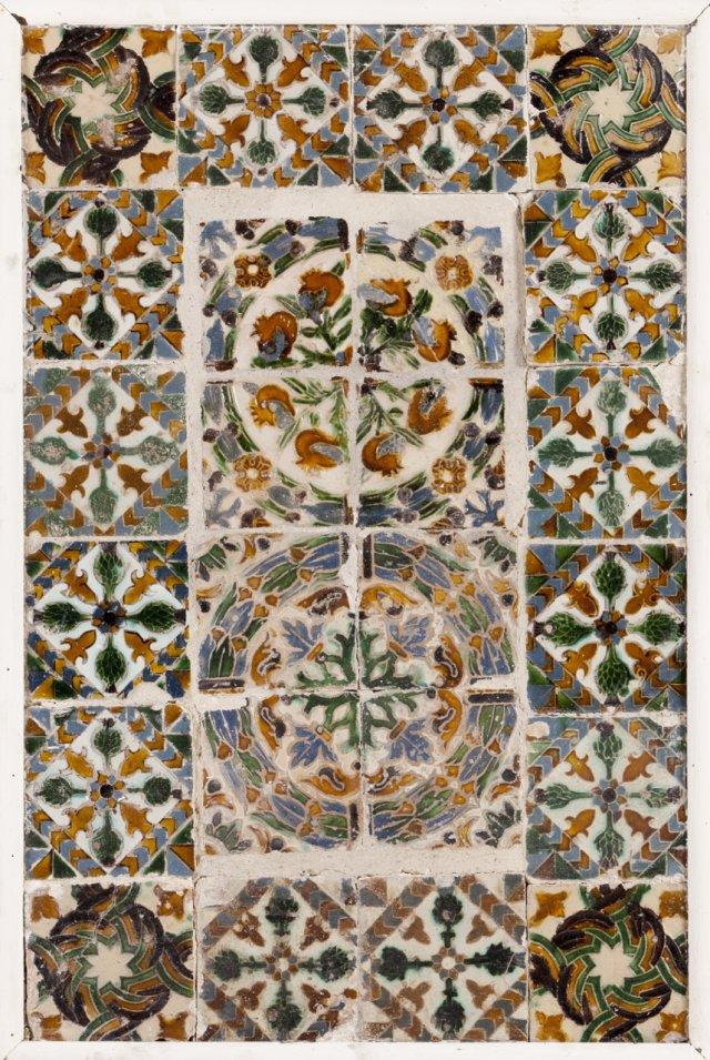 A Hispano-Moresque tile panel