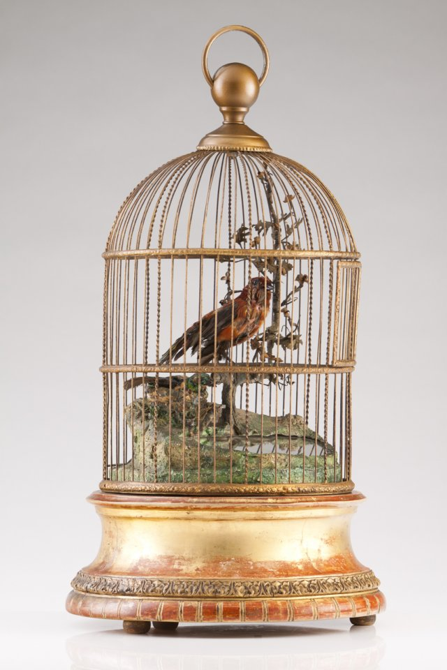 A 19th century French automated birdcage