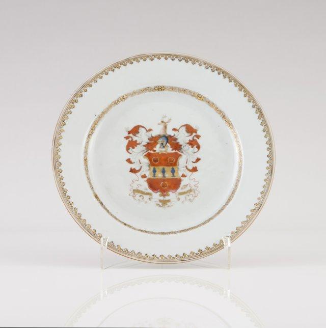 A Qianlong Armorial plate