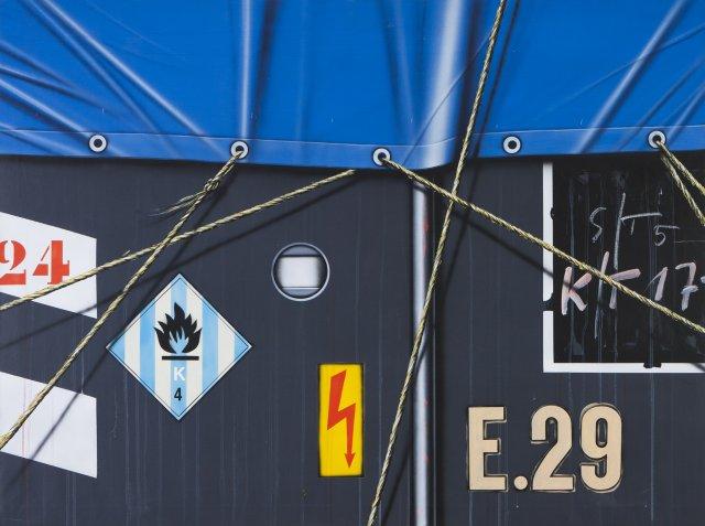 Camion bâche noir/bleu