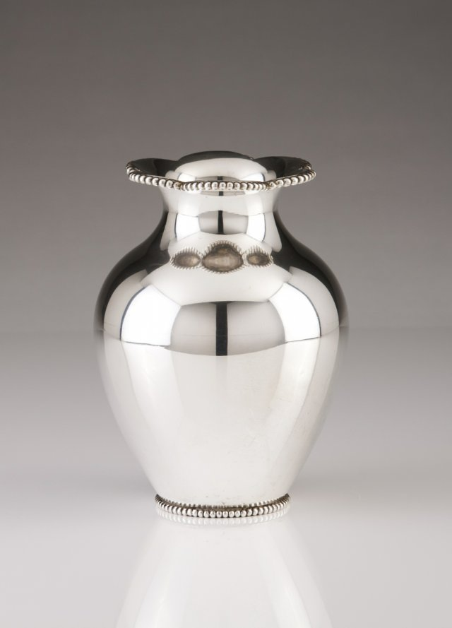 A Portuguese silver vase