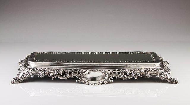 A Bélle-Époque Portuguese silver centerpiece stand