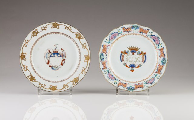 A Chinese export porcelain Armorial plate