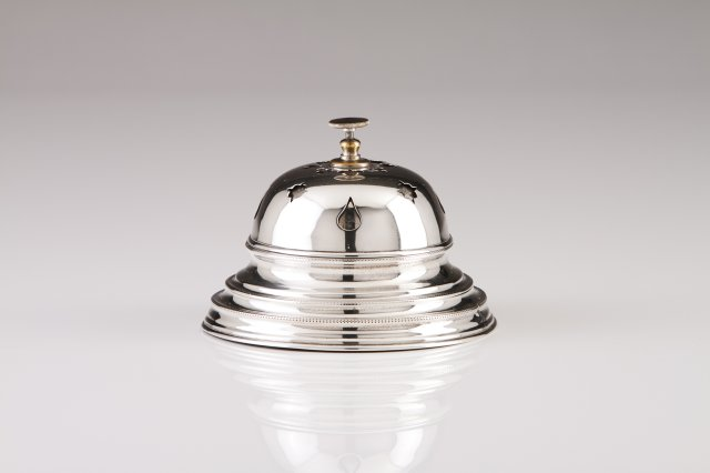 A Portuguese silver table bell