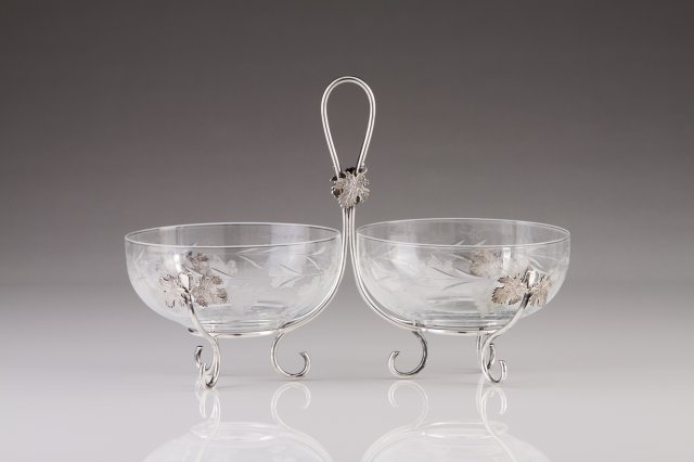 A Portuguese silver fruit bowl