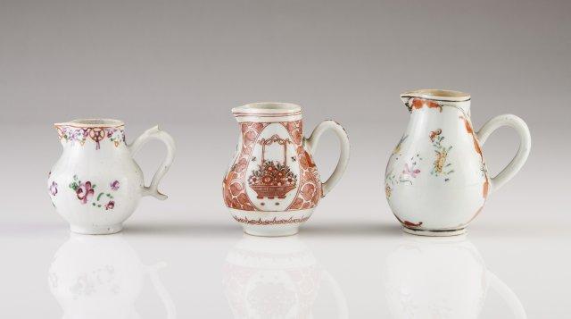 Three Qianlong milk jugs