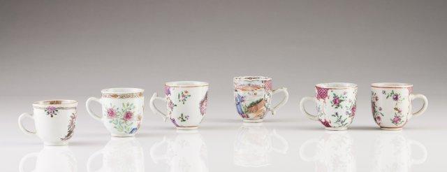 Six Qianlong cups