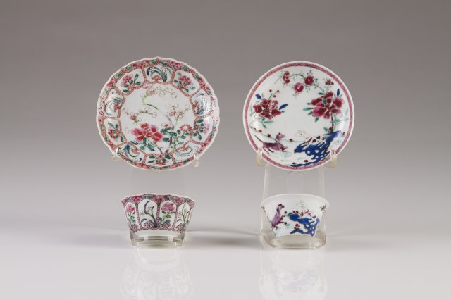 A Yongzheng cup and saucer
