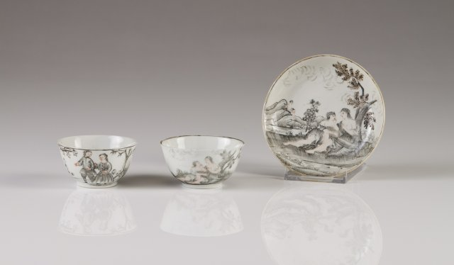 A Qianlong cup and saucer