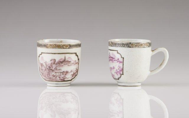 A pair of Qianlong cups
