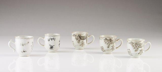 Five Qianlong cups