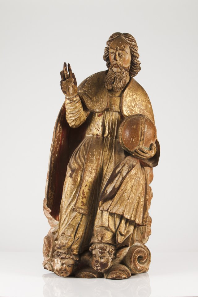 An 18th century Portuguese sculpture of God
