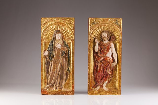 A pair of 18th century altarpiece fragments