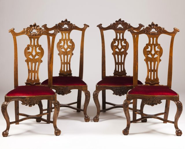 A set of four D.João V(1707-1750)/D.José (1750-1777) chairs