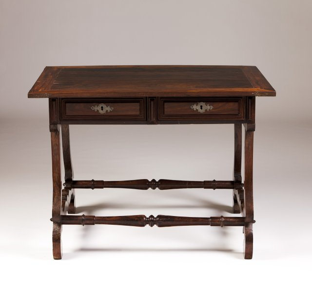 A rosewood side table