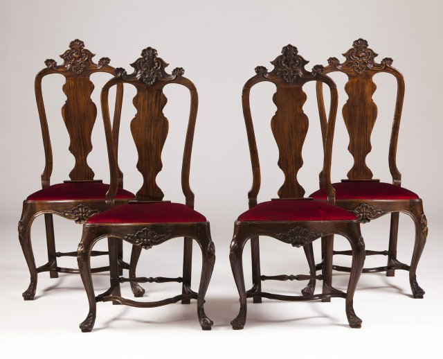 A set of four D.José (1750-1777) style chairs