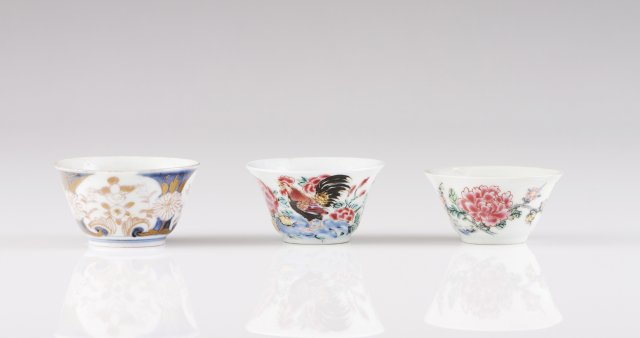 Three Qianlong bowls