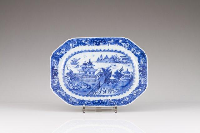 A Qianlong octogonal dish
