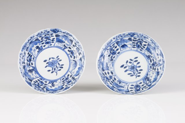 Two Kangxi saucers
