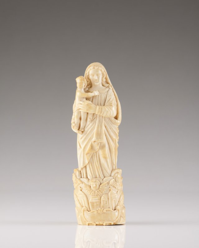 A 17th century Indo-Portuguese ivory sculpture of Our Lady