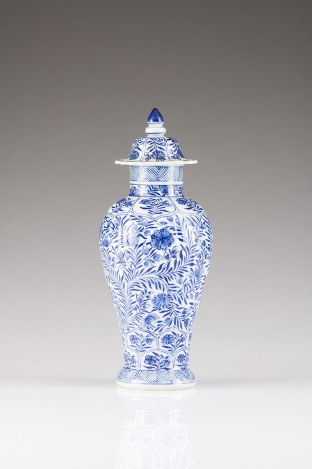 A Kangxi vase with cover