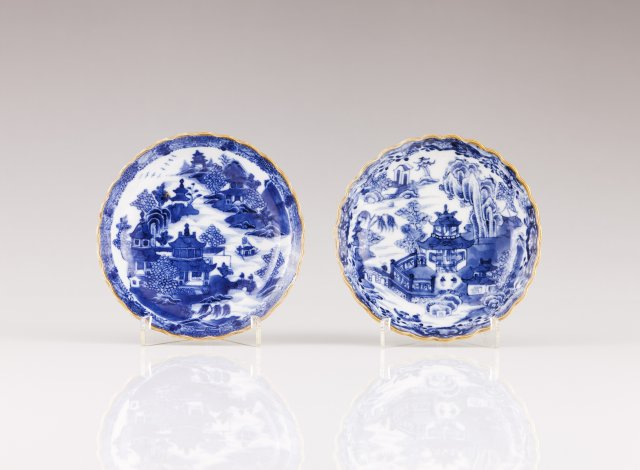 A pair of Jiaqing saucers