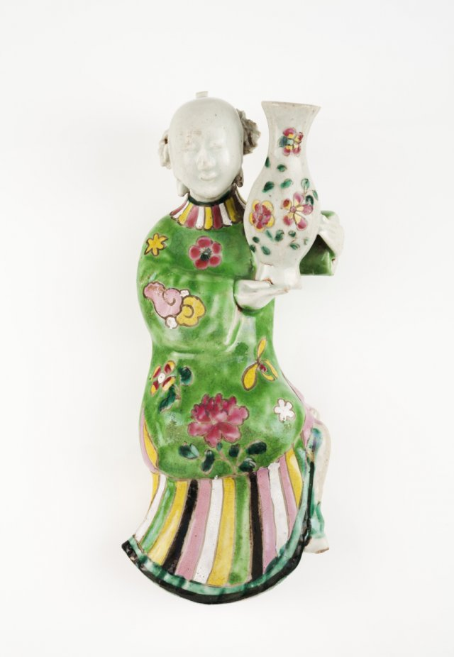 A Qianlong wall flower vase