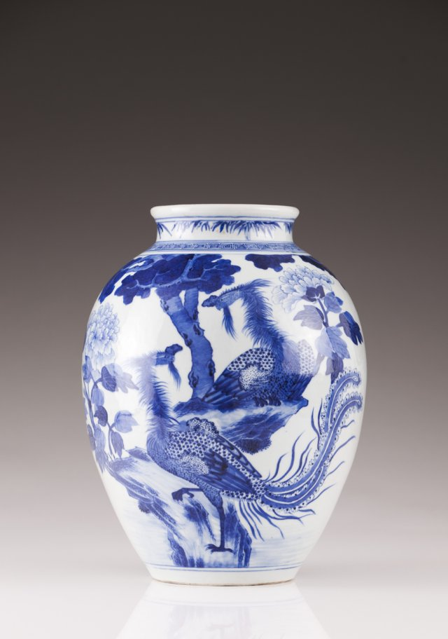 An 18th century Chinese porcelain vase