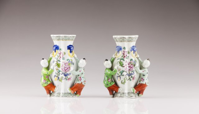 A pair of Jiaqing wall-vases