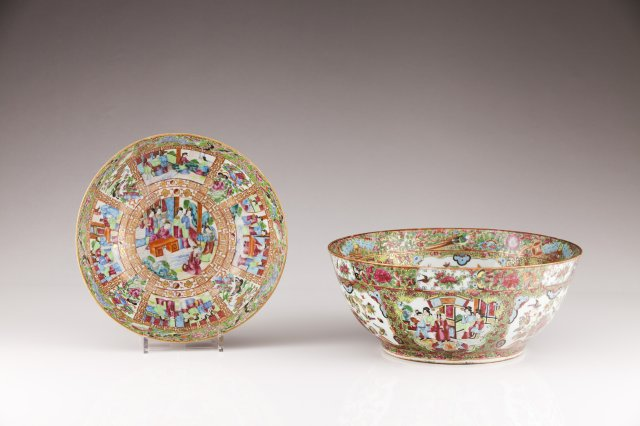 A Mandarin punch-bowl