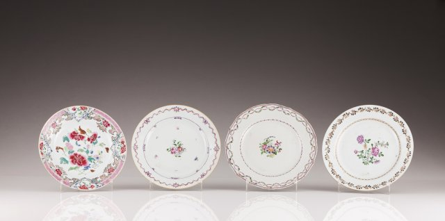 Three Qianlong plates
