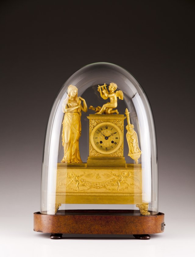 Important Charles X ormolu clock with musical mechanism, E. LECOULTRE