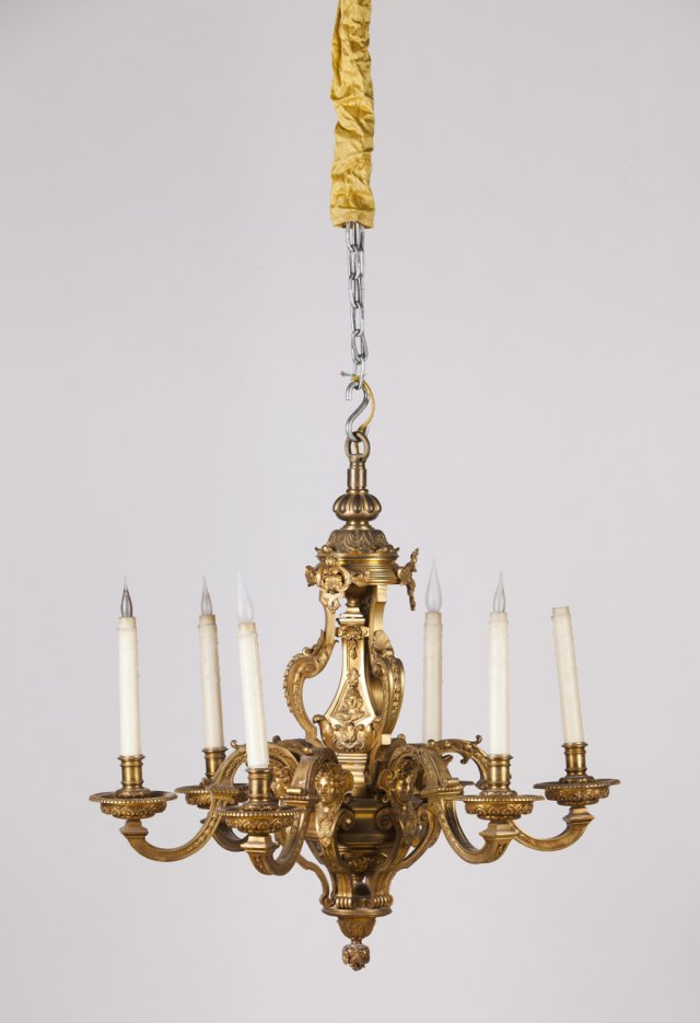 A 19th century gilt-bronze chandelier