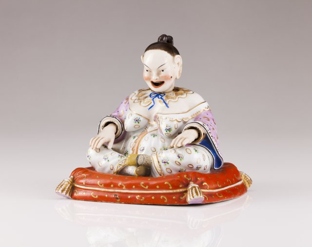 A 19th century Meissen porcelain oriental figure