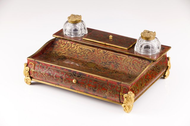 A 19th century inkstand in the Boulle manner