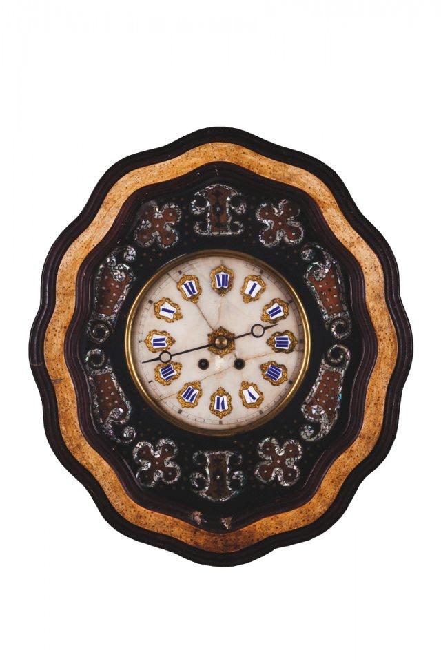 A Napoleon III wall clock