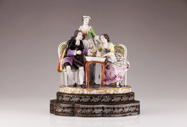 A porcelain sculpture in the Meissen manner