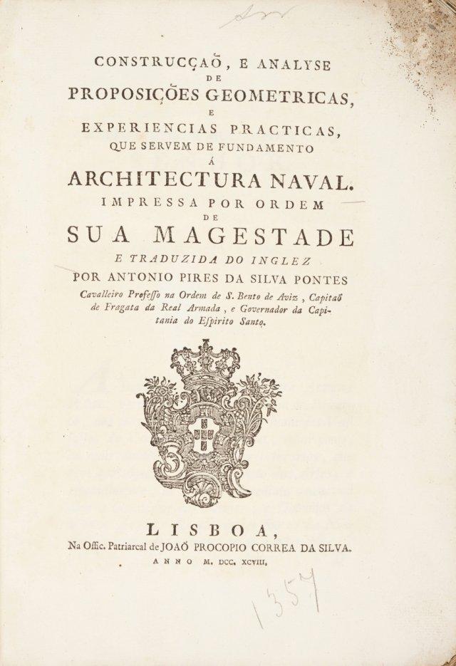 ATWOOD,George, 1746-1807 ; PONTES, António Pires da Silva, 17??-1805?