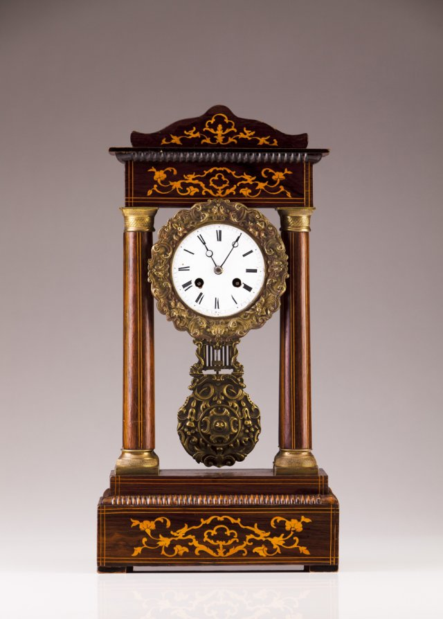 A 19th century French table clock