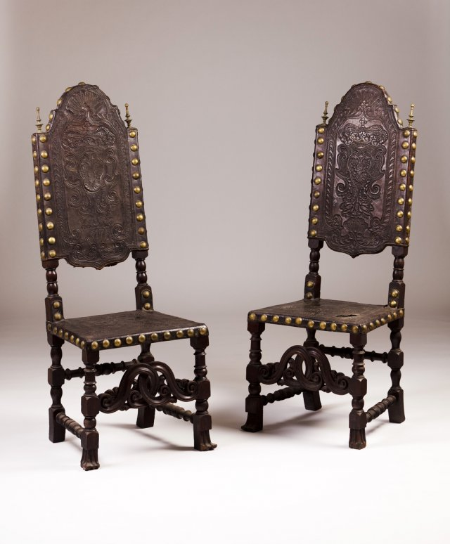 A pair of late 18th, early 19th century Portuguese armchairs