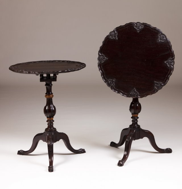 A pair of 19th century Portuguese tripod tables