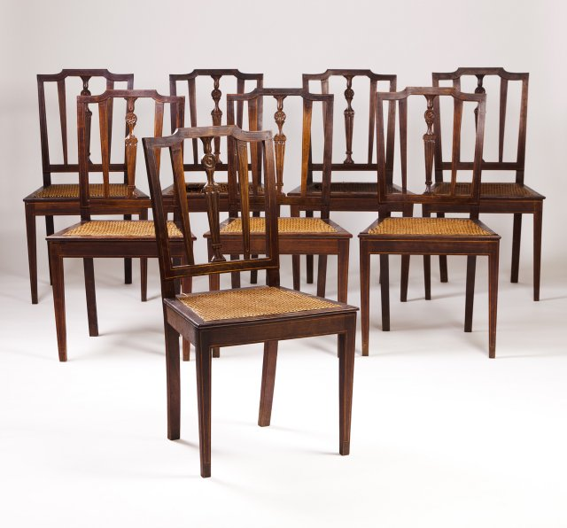 A set of eight D.Maria (1777-1816) chairs