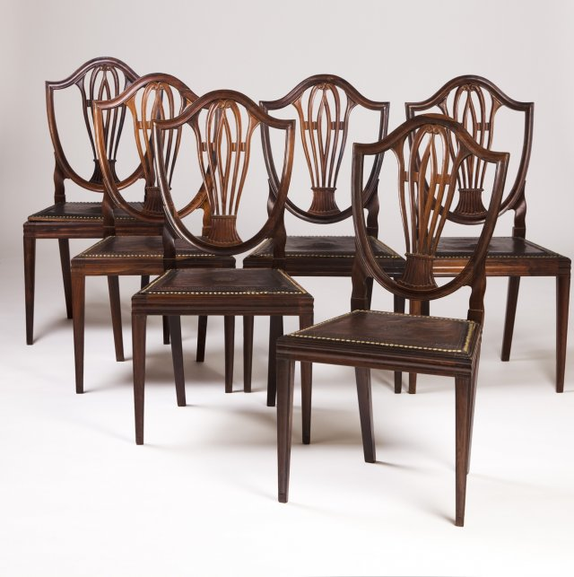 A set of six Rosewood D.Maria (1777-1816) chairs