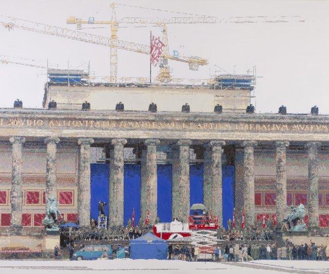 """""""Helge Schneider spielt Adolf Hitler im Lustgarten vor dem Alten Museum"""""""