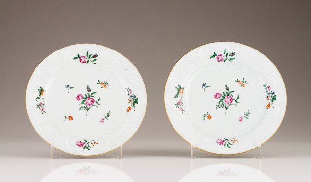 A pair of Qianlong plates
