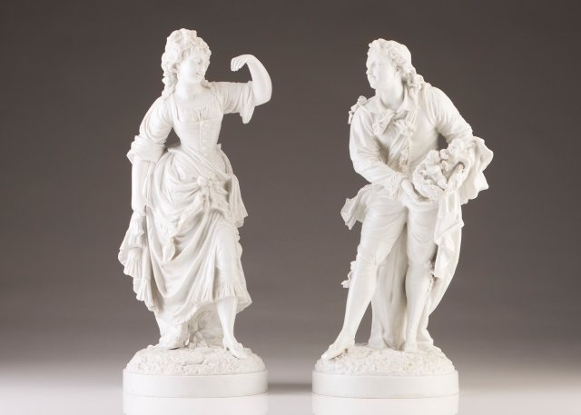 A pair of French figures