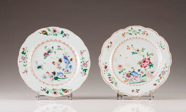 Dois pratos recortados
