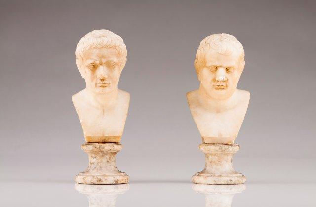 Bustos de imperadores romanos