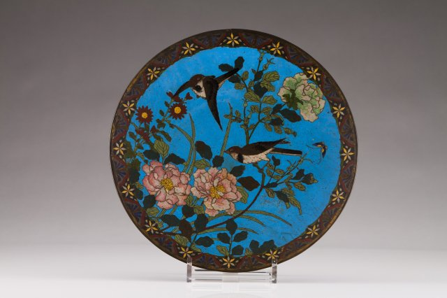 A 19th century Chinese cloisonné plate