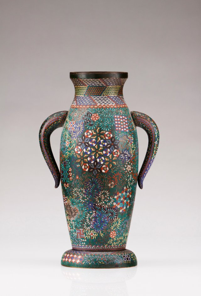 A 19th century Chinese cloisonné vase